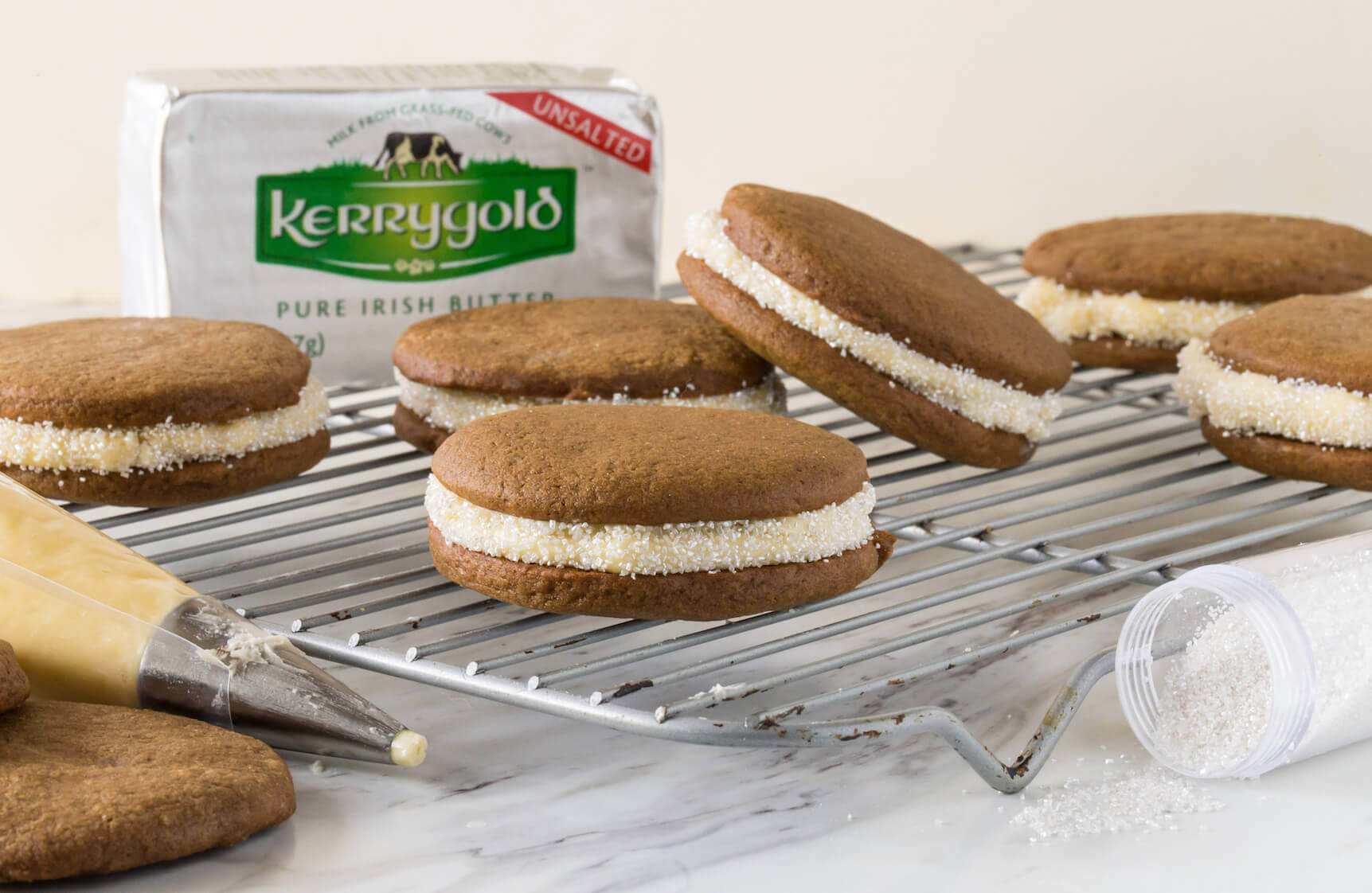 Kerrygold Soft Gingerbread Sandwich Cookies